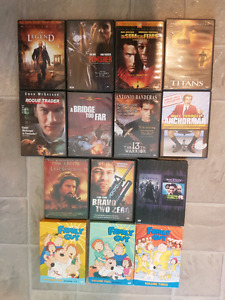 DVD's  (11 movies, volume 1,2,3 of Family Guy