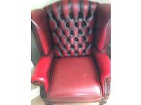 Oxblood chesterfield chair