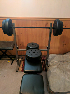 Trainor Sports Benchpress And Weights