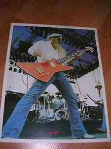"1980's 8x10 picture of ""ZZ Top"" sold in record stores - mid 80's"