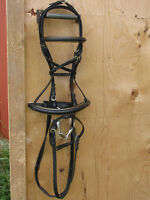 English bridle - *new* gold trimmed crank