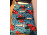 Spiderman Toddler Bed with Basically New Mattress