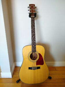 Ibanez AW70LG Acoustic Guitar + hard case