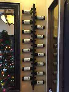 10 or 12 bottle handmade wallmounted wine rack