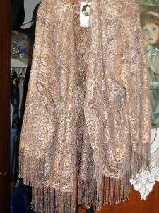 Linda Lindstrom ladies gold lace evening jacket Prince George British Columbia image 3
