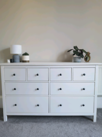 IKEA Hemnes chest of 8 drawers & wardrobe with 2 sliding doors