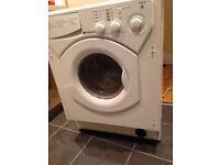 Free washing machine and single oven