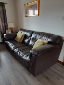 Brown Leather Sofas (2 & 3 seater)