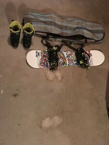 Snowboard and accessories for sale