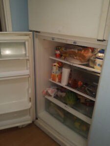 Fridge, white.