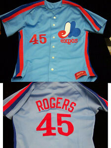 MLB MONTREAL EXPOS LEGEND BASEBALL #45 STEVE ROGERS JERSEY