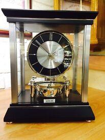 Black Revolving Mantle Clock