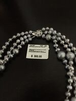 Modern Grey Pearl Necklace