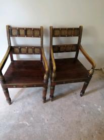 Dark mangowood chairs