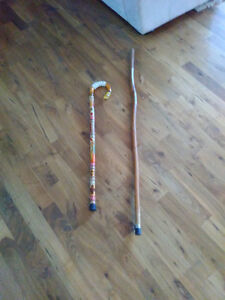 Two Vintage Wood Canes