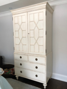 Somerset Bay Armoire/Linen Chest (off white)
