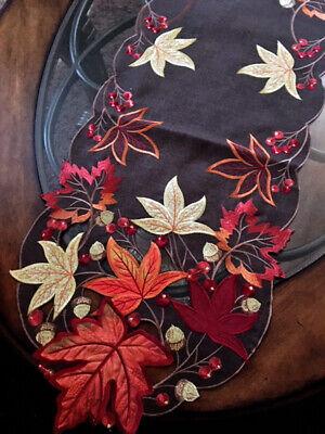 Autumn Leaves Table Runner (Thanksgiving Fall Decor Table Runner Autumn Leaves 69