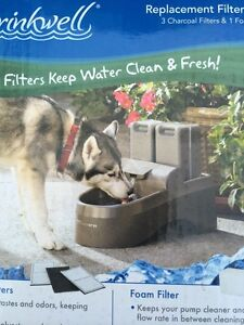 Pet safe XL drinkwell filtered water outdoor dog fountain