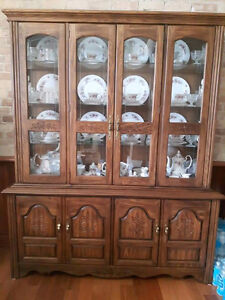 Classic Dining Room table, chairs & cabinet