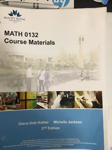 Math 0132 course material for MRU Upgrading course