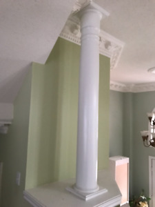 Two Turncraft Primed Pine Round Column