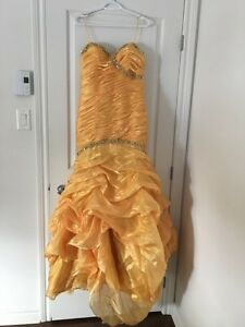 Mermaid dress for sale-yellow canary colour