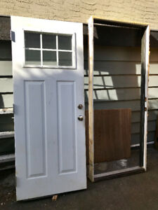 Full Sized Exterior Door with Frame