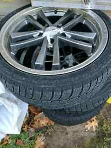 Winter tires in rims vw Mercedes Cambridge Kitchener Area image 3