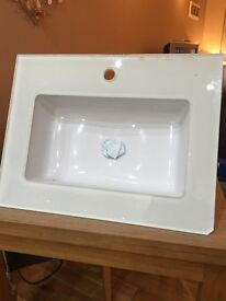 Porcelanosa Glass Sink Top