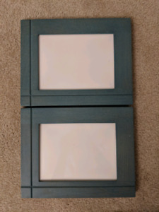 2 turquoise 5x7 frames