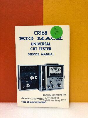 Sencore Cr168 Big Mack Universal Crt Tester Service Manual