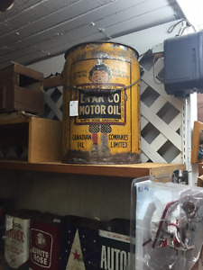 OIL CANS AND TINS-ENARCO-RED INDIAN-WHITE ROSE ETC