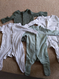 0-1 month baby sleepsuits bundle