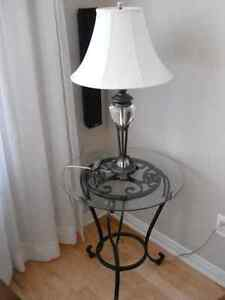 Bombay crystal table lamp.