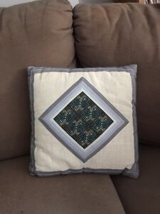 Pillow from Thailand with beaded details