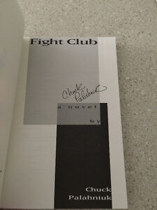 Fight Club by Chuck Palahniuk- Autographed (1997, Paperback) Cambridge Kitchener Area image 2