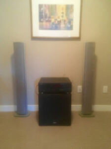 obo incredible sound energy subwoofers and tower speakers
