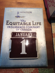 VINTAGE PERPETUAL CALENDAR EQUITABLE LIFE INSURANCE OF CANADA