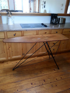 Antique wooden and metal ironing board