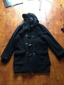 Black Duffel Coat M