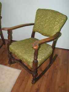 1940's Matching Rocker and Chair Windsor Region Ontario image 3