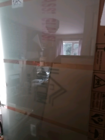 2 glass screens for showers