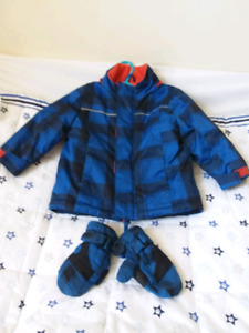 Jacket and mits 12-18m