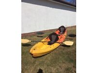 2+1 Tandem double sit on top kayak canoe with deluxe seats