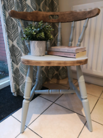 Upcylced and recycled one of a kind wooden chair