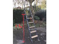 Metal step ladder, extends to 3.0m.
