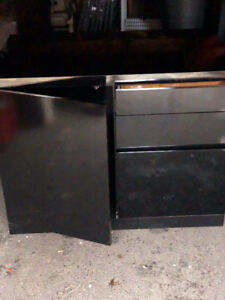 Black lacquer wood cabinet for sale