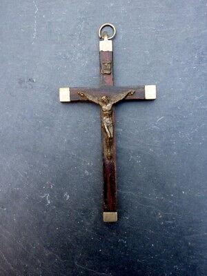 Elegant Old Pilgrim cross Pendant Roma Italy Metal 10,5 CM Collector's Item