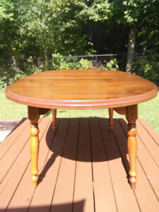Canadian Made Pine Dining Table with Chairs - $200.00