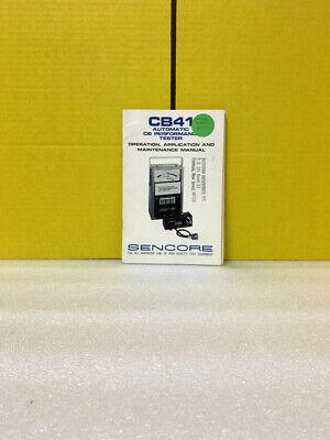 Sencore Cb41 Automatic Cb Performance Tester Operation Maintenance Manual